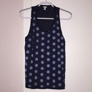 J CREW LACEY FLOWERED TANK TOP